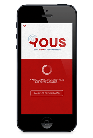 YOUS mobile app layout, by MCBS
