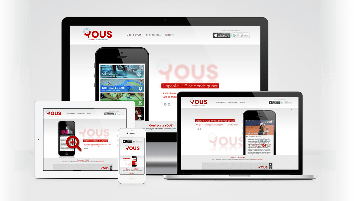 YOUS website by MCBS Multimedia