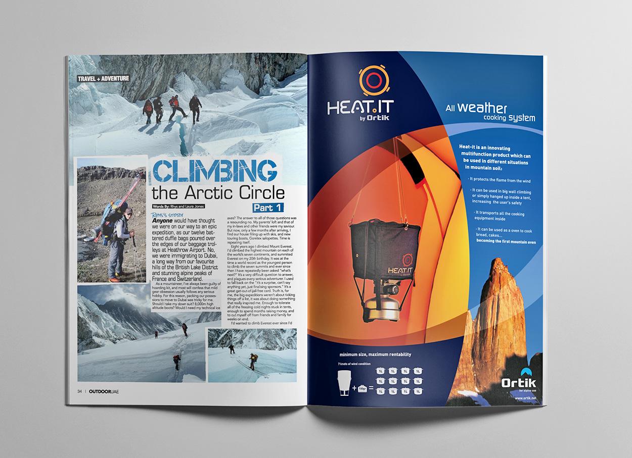 HEAT IT / anúncio revista by MCBS Multimedia