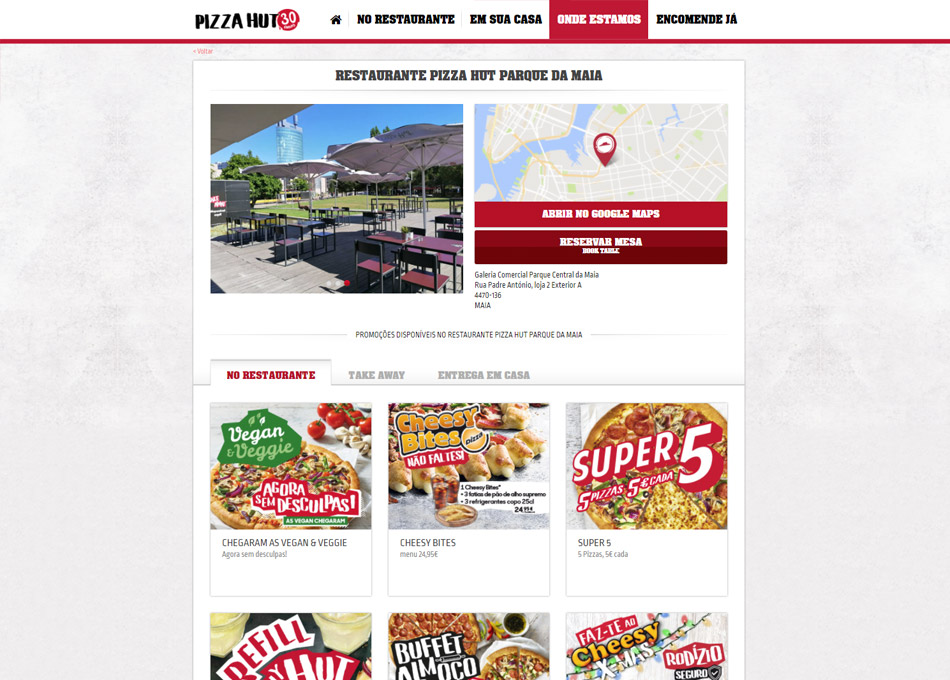 PIZZA HUT website by MCBS