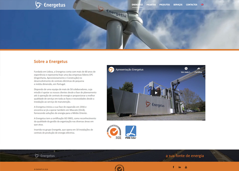 ENERGETUS website by MCBS