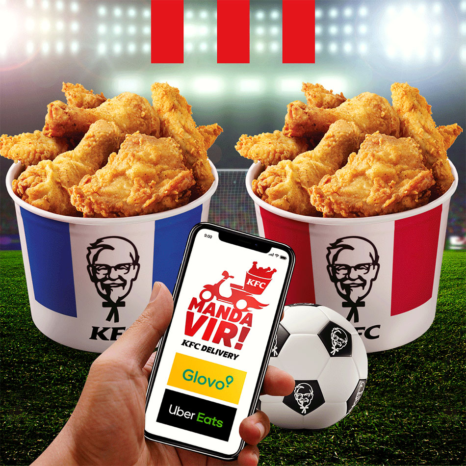 KFC Delivery, post by MCBS