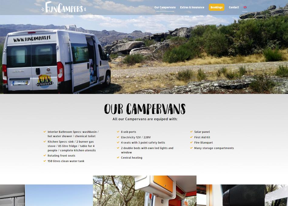 FUNCAMPERS website by MCBS