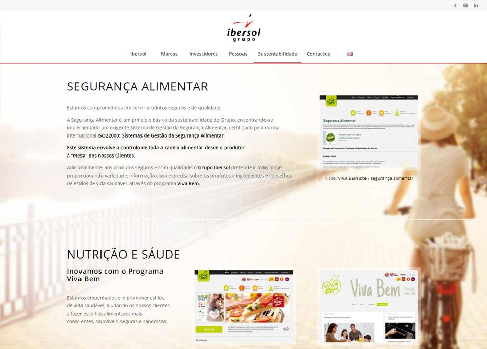 GRUPO IBERSOL website by MCBS