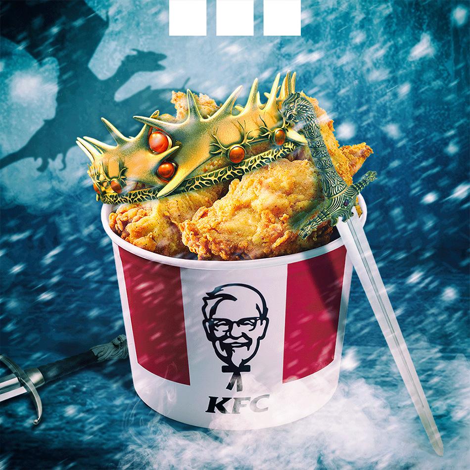KFC - publicação Game of Thrones para redes sociais by MCBS