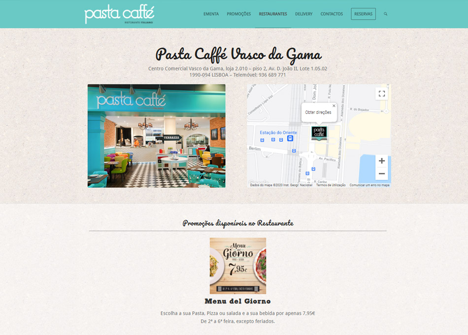 PASTA CAFFÉ website by MCBS