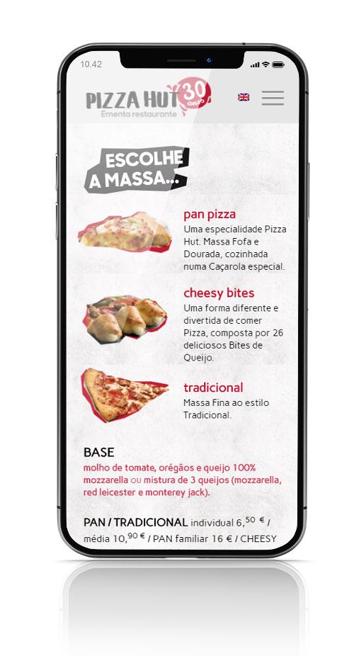PIZZA HUT EMENTA website responsivo by MCBS