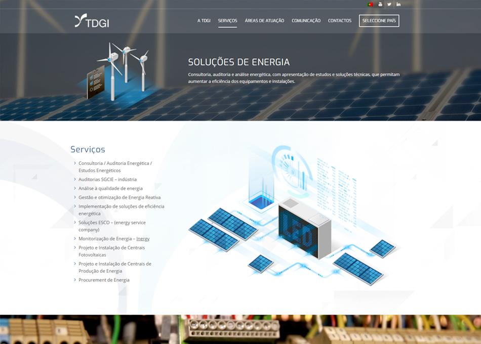 TDGI website by MCBS