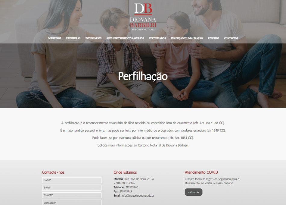 DIOVANA BARBIERI - Website responsivo. MCBS Media